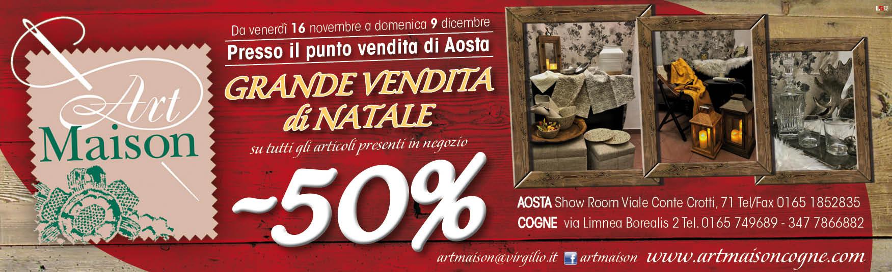 Art Maison Grande Vendita di Natale Aosta